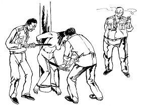 中共酷刑示意图:性虐待