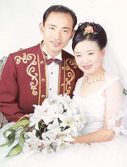 邹松涛和张云鹤夫妇的结婚照