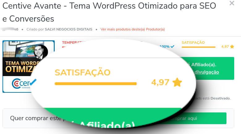 Satisfacao Tema WordPress Centive Avante