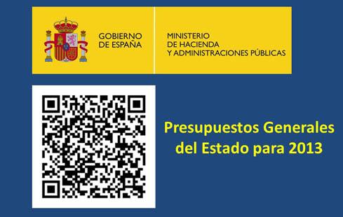 Entran en vigor los Presupuestos Generales del Estado para 2013