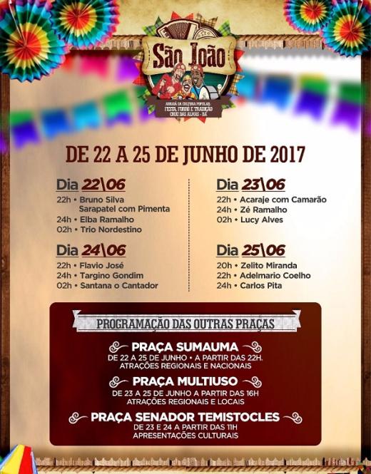 Atrações São João Cruz das Almas 2017