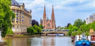 une vue du Rhin à Strasbourg