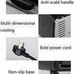 Lloow 9L Mini-Four à 600W Température réglable de 0 à 230 ° C et 60 Minutes à la Position de synchronisation de Retour à Trois Couches contrôle de température indépendant vers Le Haut