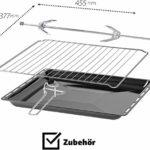 ICQN 70XXL Mini-Four | 1800 W | Four a poser avec chaleur tournante , 5 fonctions | Four à pizza | Double vitrage | Minuterie Mécanique | Cavité en émaillée