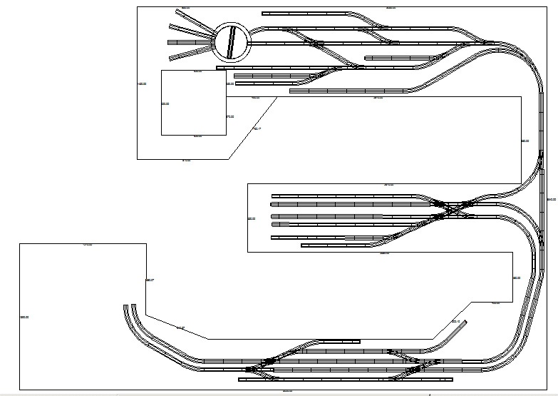 Gleisplan obere Ebene