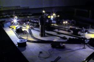 Nacht über dem Betriebswerk