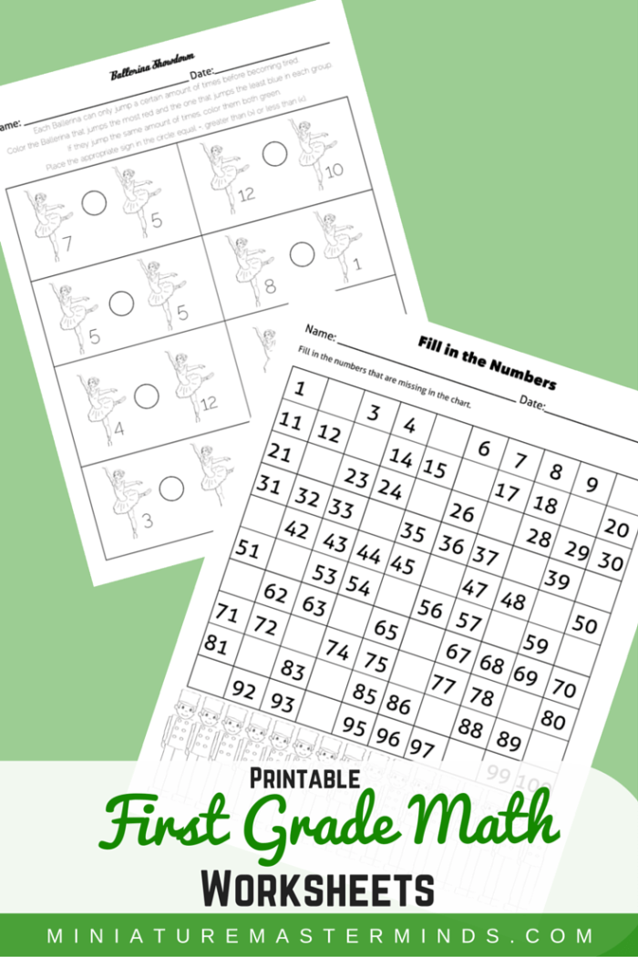 photograph relating to Nutcracker Worksheets Printable called 2 To start with Quality Math Worksheets - The Nutcracker Topic