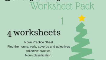 Noun Practice Worksheet Christmas Poem  Miniature Masterminds