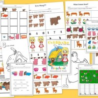 Goldilocks and The Three Bears FREE 15 Page Preschool Educational Pack