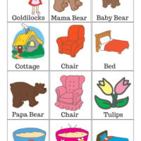 Goldilocks and the Three Bears Free Printable Matching Game
