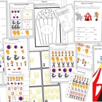 Let's Go to the Circus - Preschool Basic Math Concept Free 15 Page Printable Educational Pack