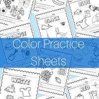 Free Printable Color Practice Sheets
