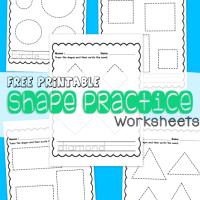 Free Printable Shape Practice Worksheets