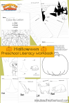 Free 13 Page Printable Halloween Preschool Literacy Workbook