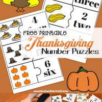 Free Printable Thanksgiving Number Puzzles 1 - 12