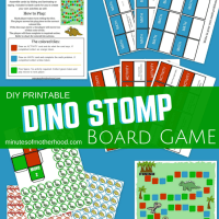 Dino Stomp Free DIY Printable Board Game