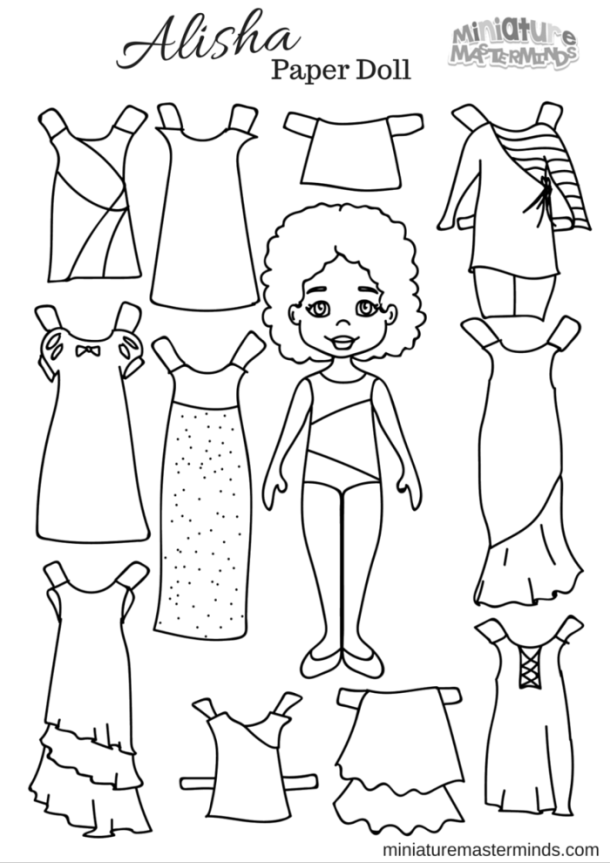Alisha Paper Doll From Miniature Masterminds (1)