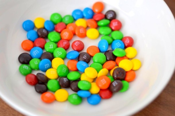 Printable Letter A M&M Color Sorting Activity
