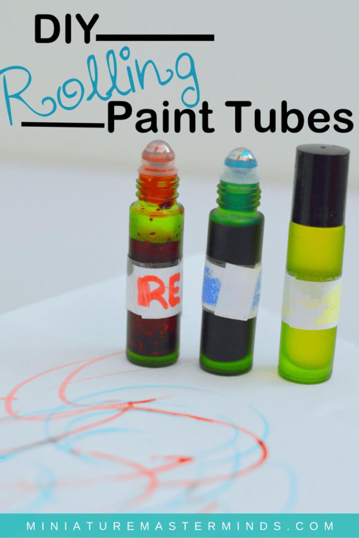 DIY Rolling Paint Tubes