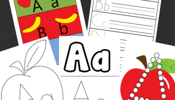 Feed The Worm Upper And Lower Case Preschool Printable Alphabet Activity