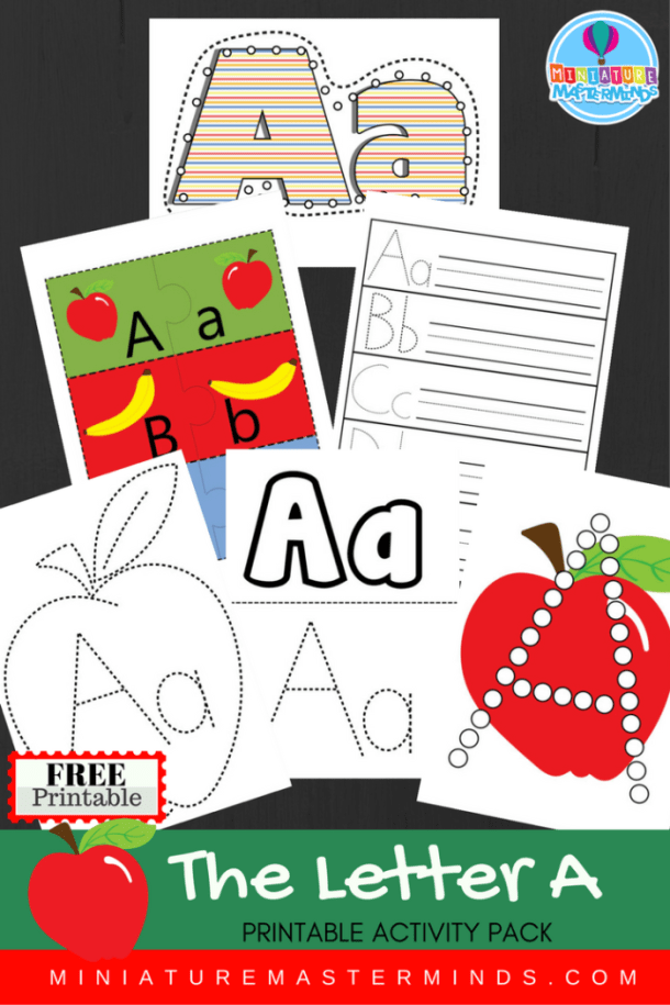 Free Printable Letter A Practice Pack And Alphabet Upper and Lower Case Matching Cards