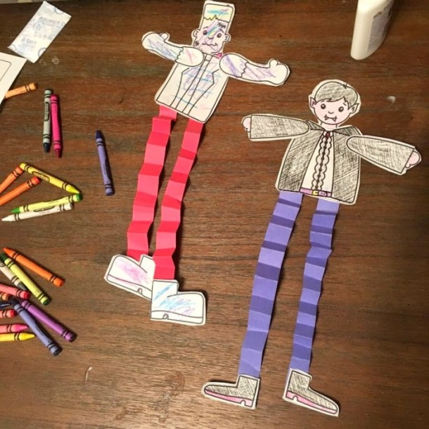 Build A Monster and Build A Vampire Printable Halloween Craft Projects