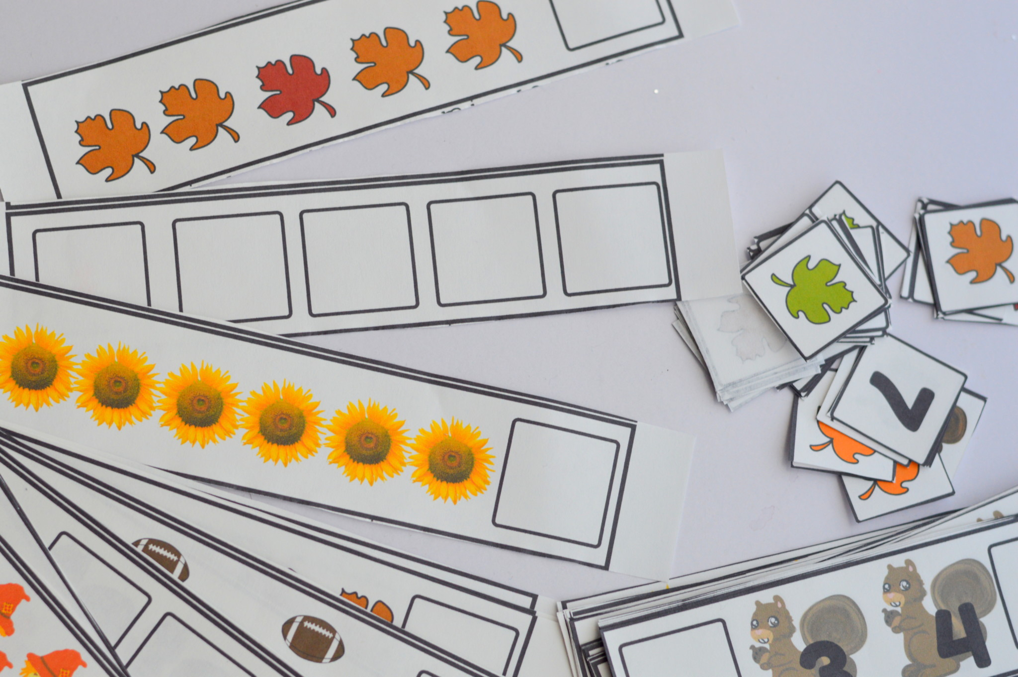 Printable Preschool Fall Fill In Missing Number Counting