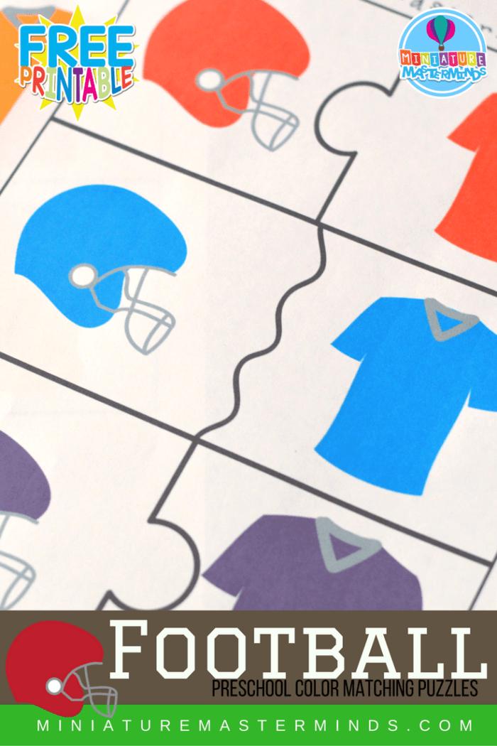 Football Preschool Color Matching Puzzles