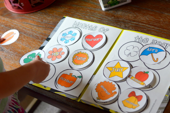 Months Of The Year Preschool/Kindergarten and First Grade File Folder Activities