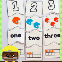 Football Themed Preschool 4 Piece Counting Puzzles From 1 to 20 #free Printable