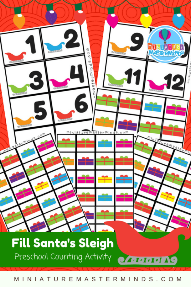 Fill Santa's Sleigh Preschool Counting Activity