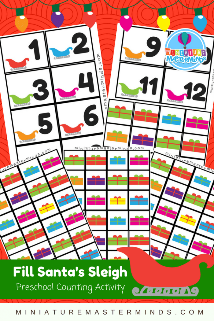 Fill Santa's Sleigh Preschool Counting Activity
