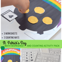 St. Patrick's Day Math Worksheet And Counting Activity Pack Greater Than Less Than Equal To, Before And After, Missing Number, Counting, Addition