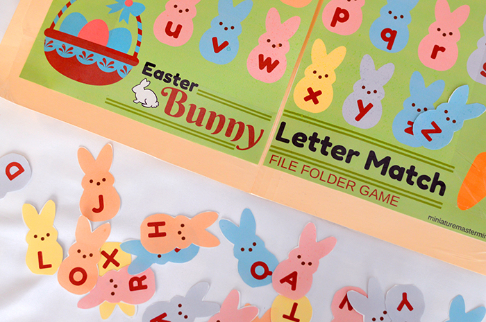 photograph relating to Letter From the Easter Bunny Printable identify Easter Bunny Alphabet Higher And Decrease Situation Letter Matching