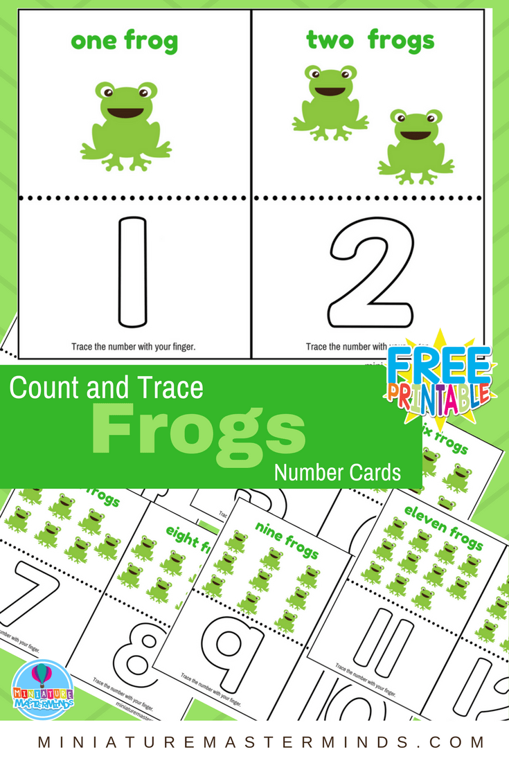 photo regarding Printable Number Cards named Depend And Hint Frogs Quantity Playing cards 1 toward 12 ⋆ Miniature