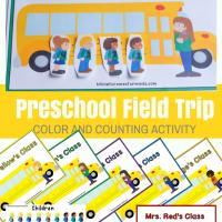 Preschool Field Trip Color Matching