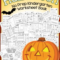 Halloween No Prep Kindergarten 65 Page Worksheet Book