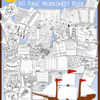 110 Page Free Thanksgiving No Prep Kindergarten Workbook