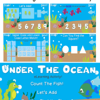 Under The Ocean Preschool eLearning Activity