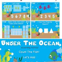 Under The Ocean Preschool eLearning Activity