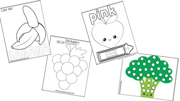 Fruits And Vegetables Preschool And Kindergarten Printable Activity