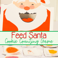 Feed Santa Cookies Free Printable Counting Activity For Preschool and Kindergarten
