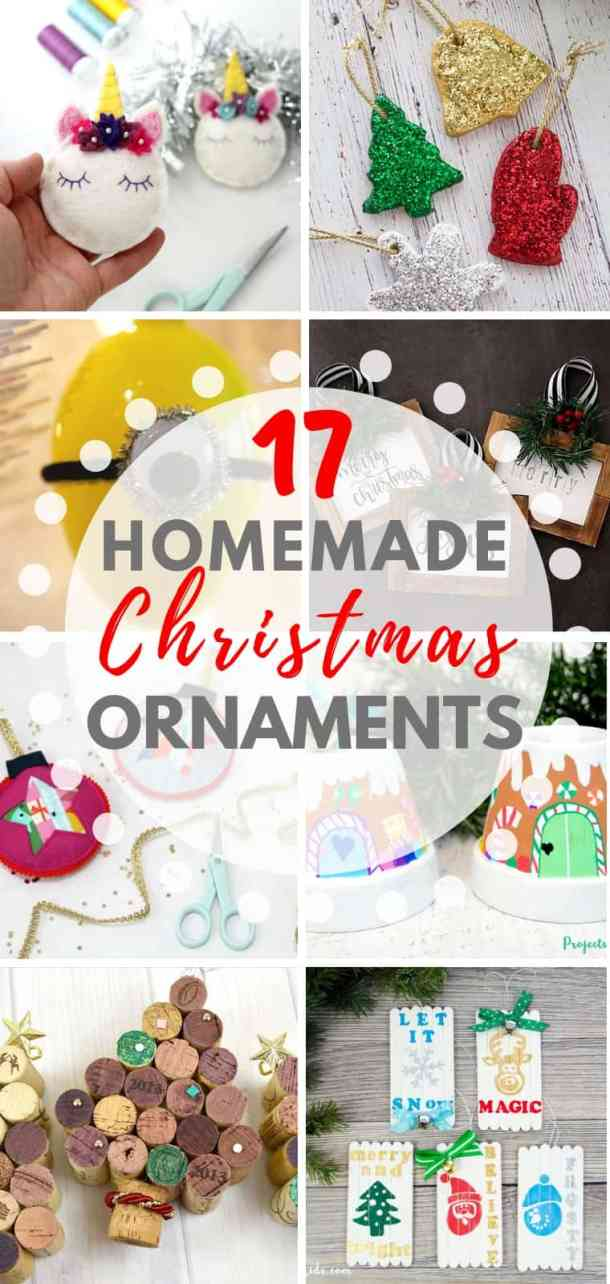 17 easy homemade Christmas tree ornaments for kids to make. These DIY Christmas ornaments will look great on your Christmas tree and your kids will love to make them.