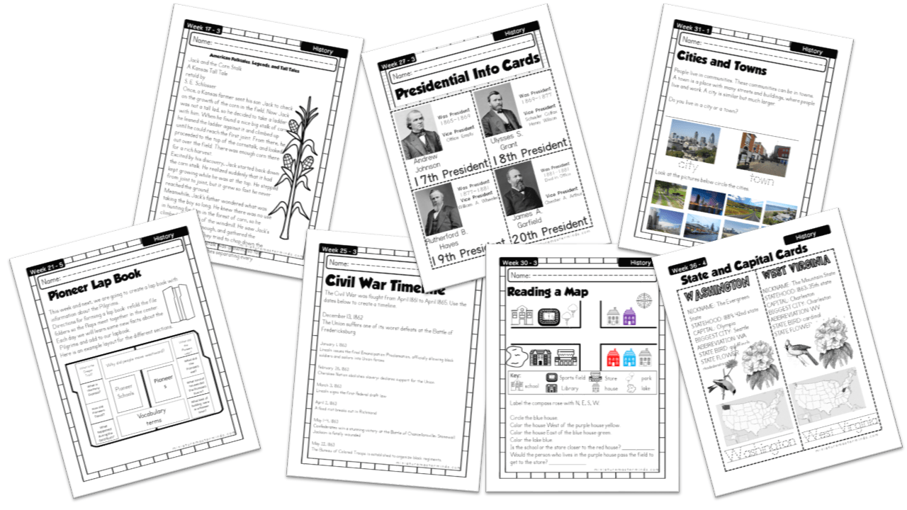 American History Work Book Ages 6 To 8 Free Printable Worksheets And  Activities – Miniature Masterminds