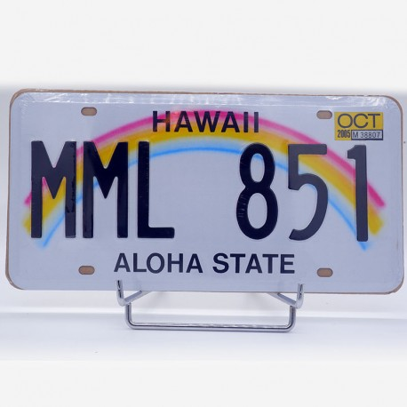 reproduction plaque immatriculation americaine hawaii