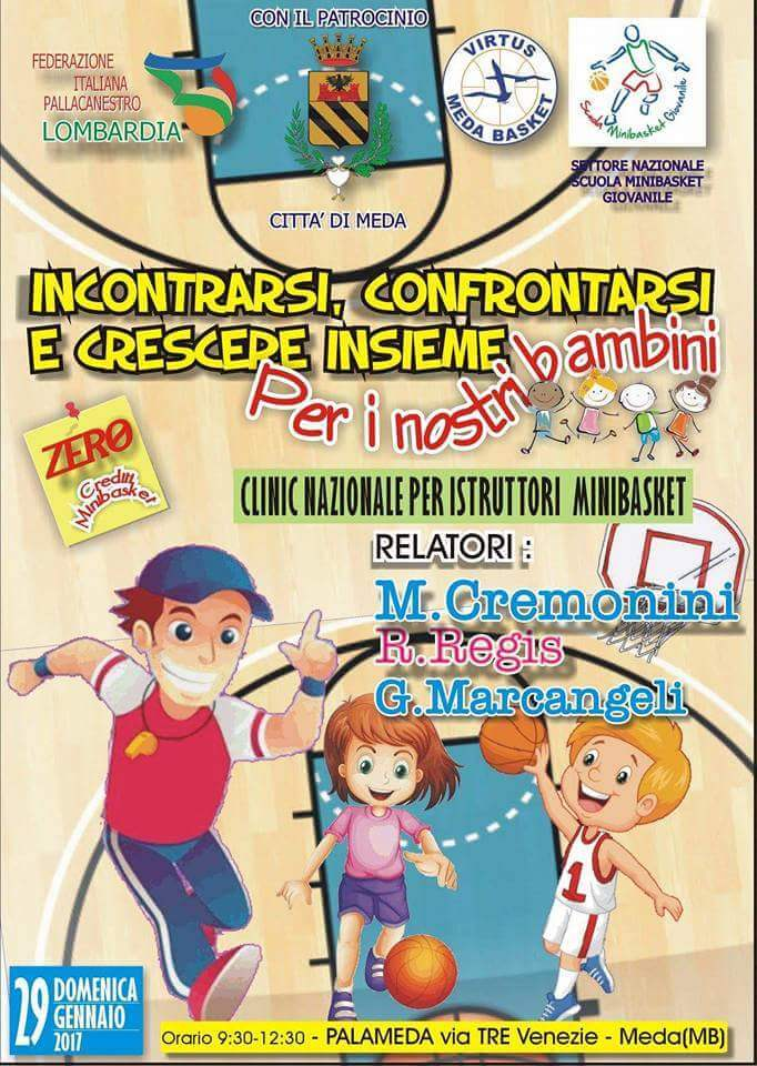 Clinic Nazionale Minibasket 29.1.2017: nessun punto P.A.O.