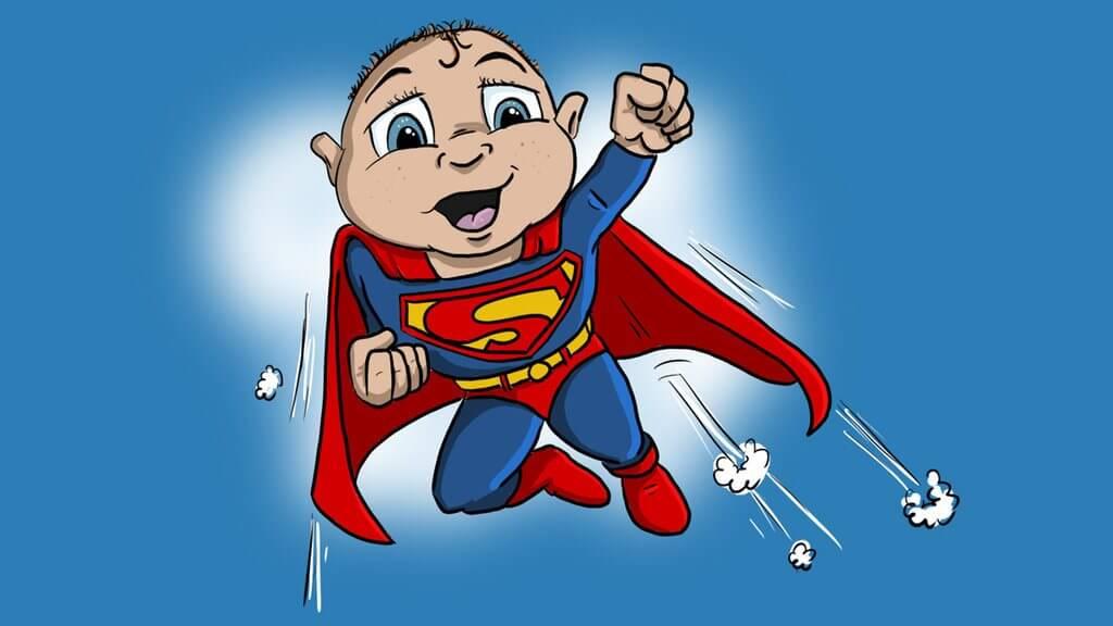 Superman …. lección con los polluelos