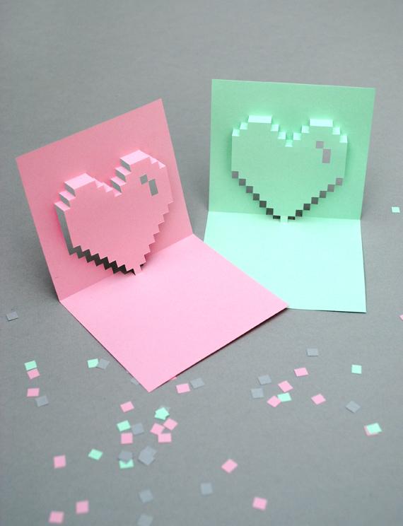 mini-eco's popup pixel valentine's card