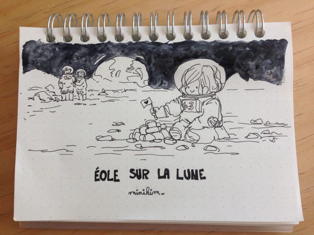 Éole sur la Lune Bande dessinée de science fiction premier bébé né sur la Lune Vivre sur la lune aller sur la lune