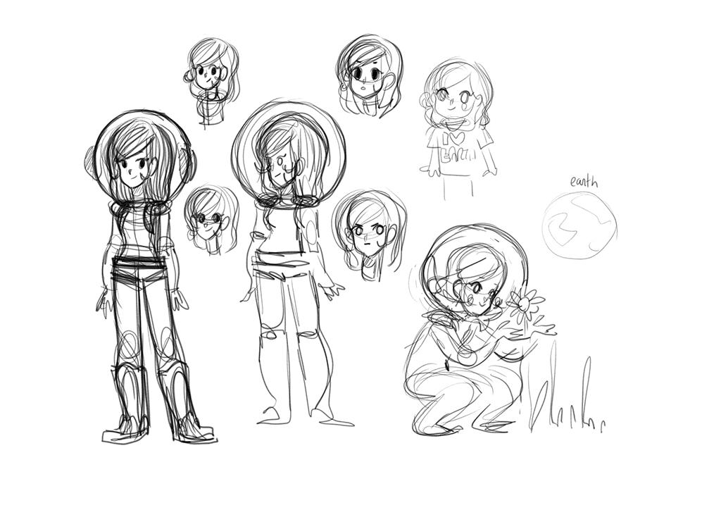 Éole sur la lune première recherches personnage Vivre sur la Lune De la terre à la Lune concept art base Lunaire